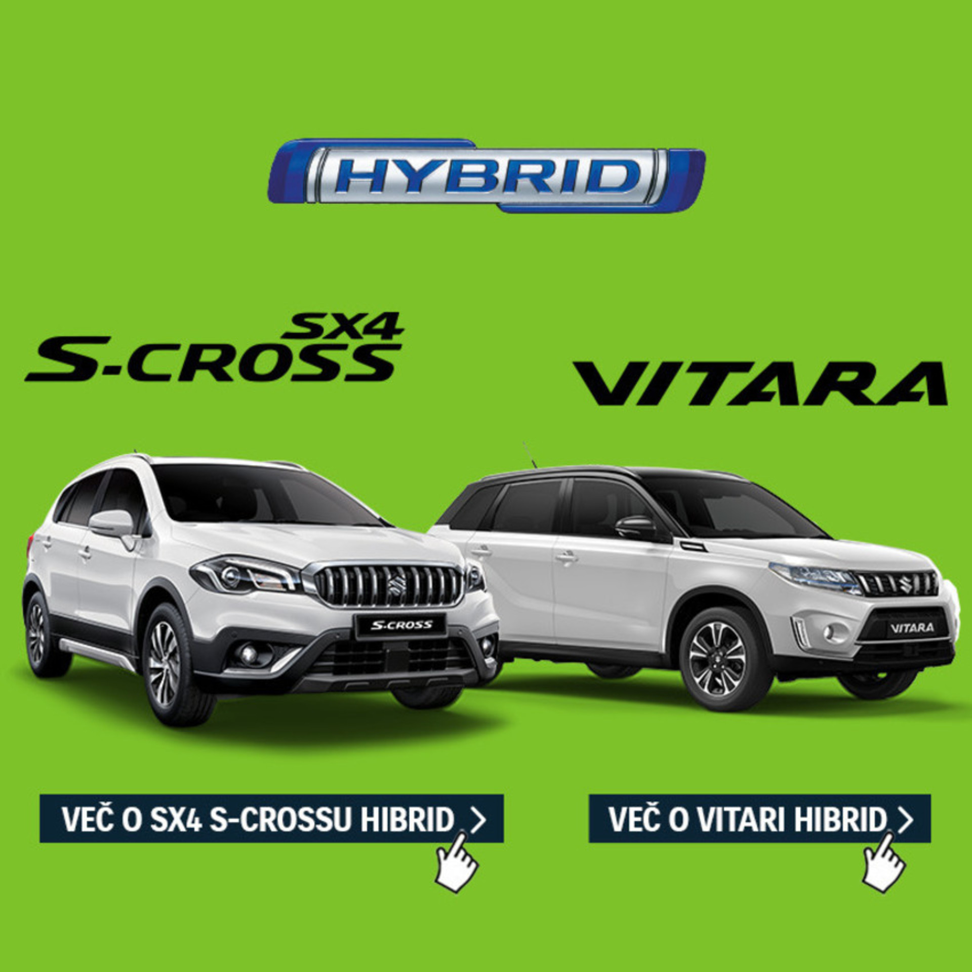 Vitara in SX4 S-Cross hibrid